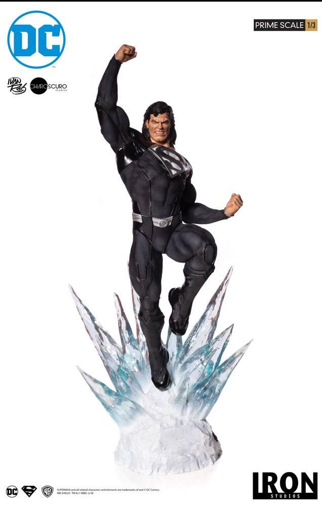 DC Comics Prime Scale Statue 1/3 Superman (Black Suit) 95 cm