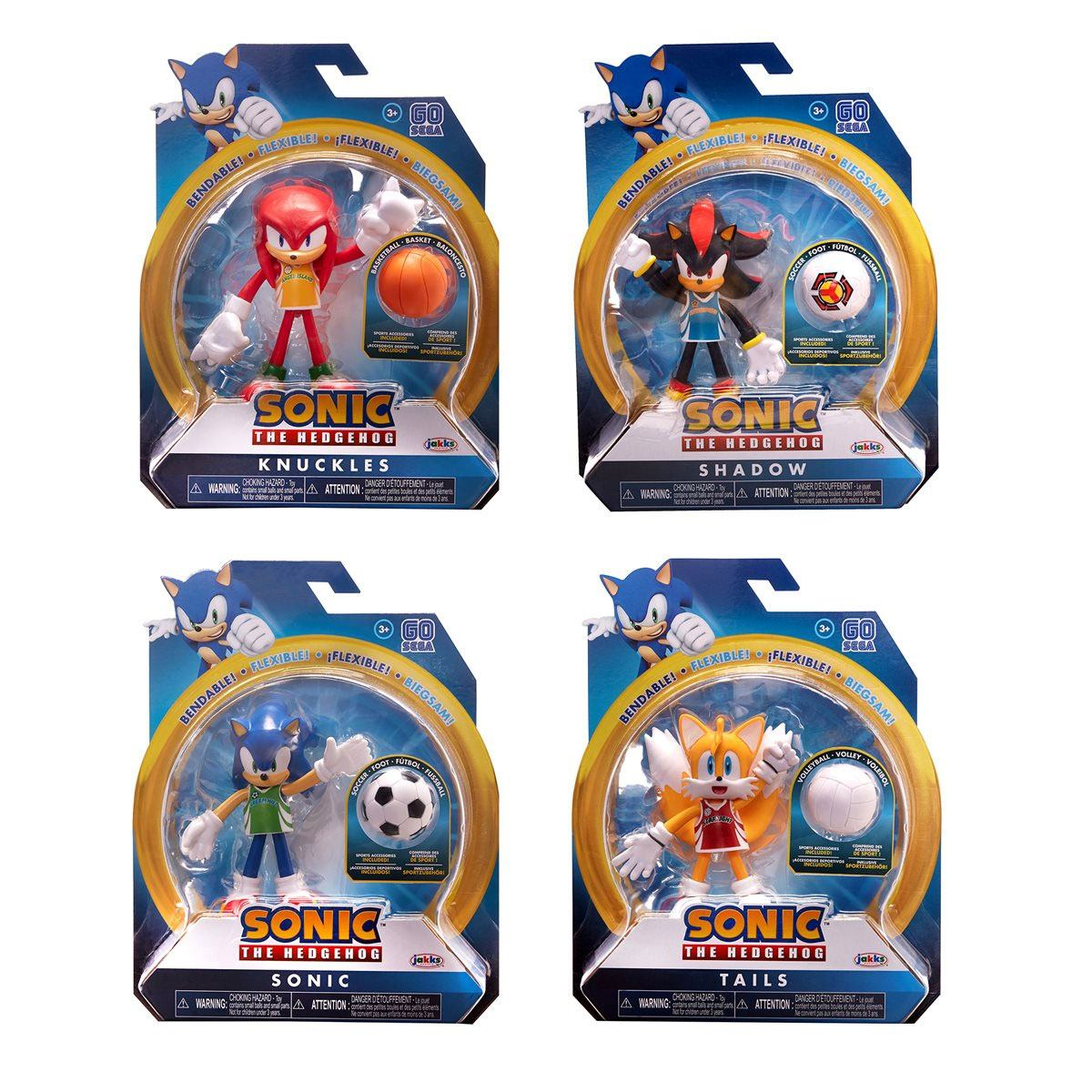 Sonic the Hedgehog Bendable Figures 10 cm Assortment (6)