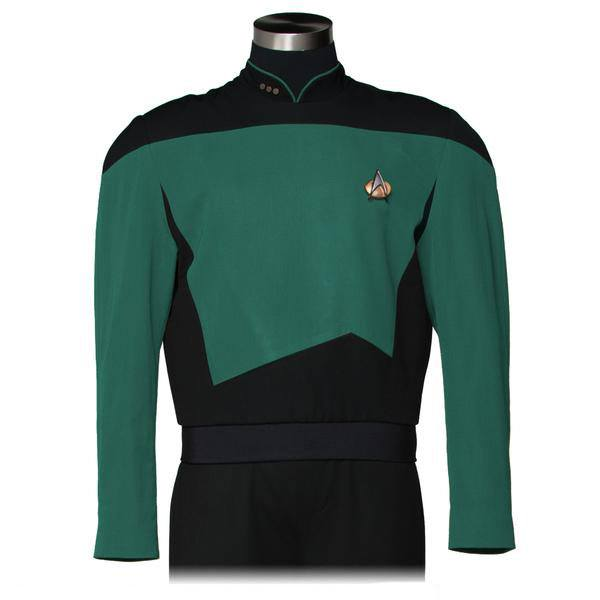 Star Trek The Next Generation Replica Sciences Teal Green Tunic Size M