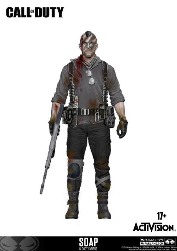 Call of Duty Action Figure John 'Soap' MacTavish Variant Exclusive incl. DLC 15 cm