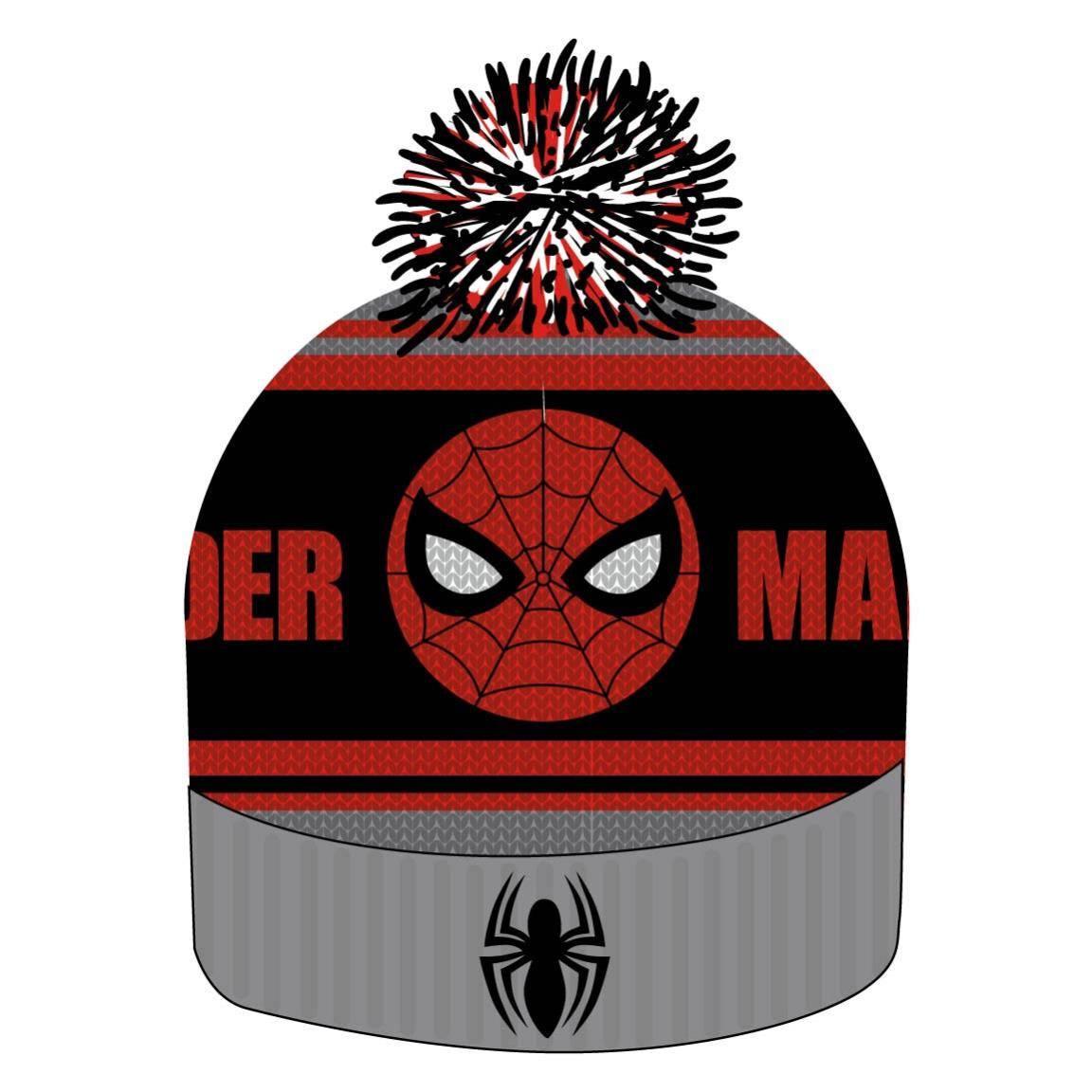 Spider-Man Beanie Knitted Logo & Face