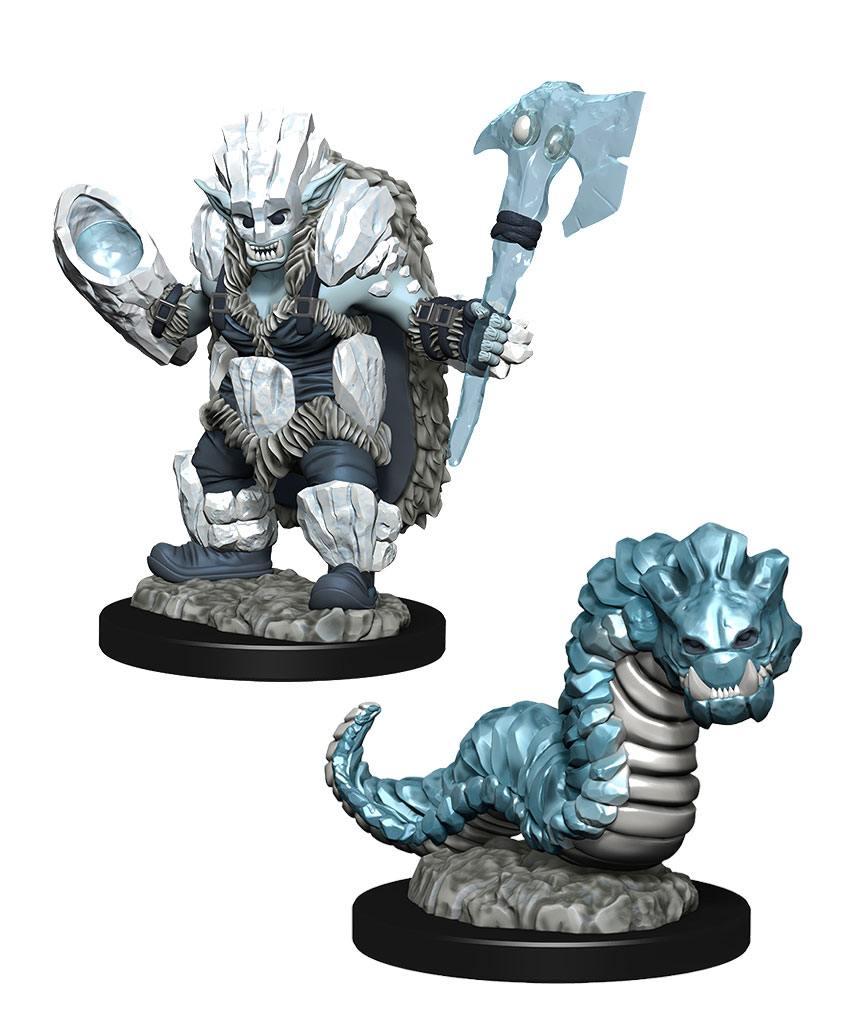 WizKids Wardlings Miniatures Ice Orc & Ice Worm Case (6)