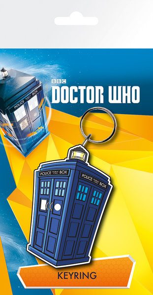 Doctor Who Rubber Keychain Tardis 7 cm