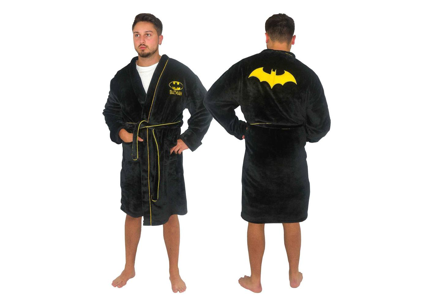 DC Comics Fleece Bathrobe Batman Size L