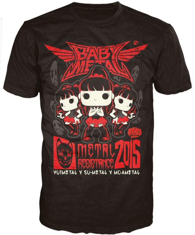 Babymetal POP! Tees T-Shirt Tour Poster Size XL