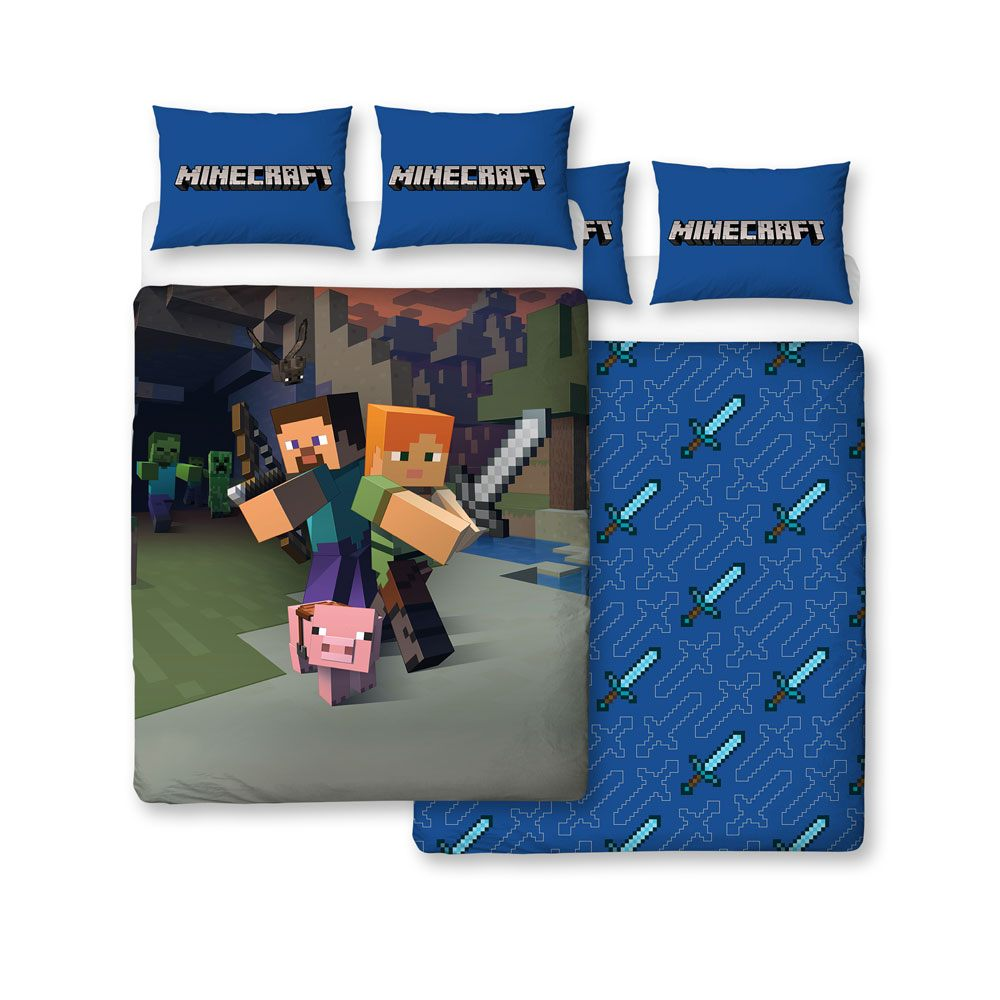 Minecraft Duvet Set Reversible Good Guys 200 x 200 cm / 48 x 74 cm