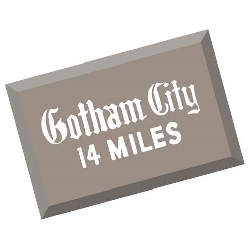 Batman 1966 TV Series Gotham City Metal Sign 2017 San Diego Comic-Con Exclusive