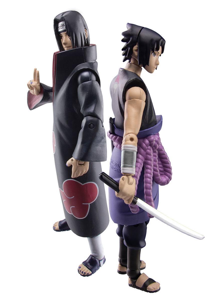 Naruto Shippuden Action Figure Set Sasuke vs. Itachi 2018 SDCC Exclusive 10 cm