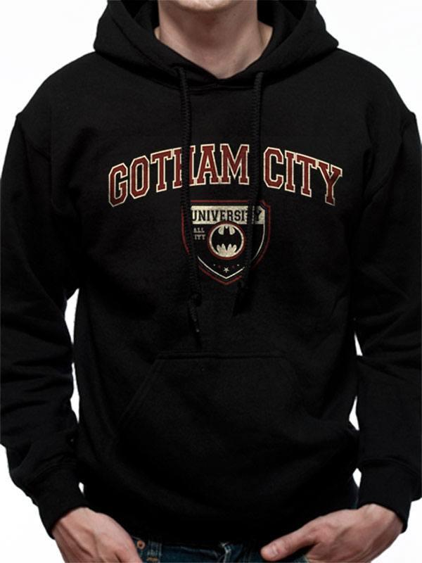 Batman Hooded Sweater Gotham City University Size M