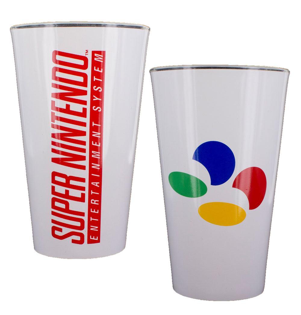 Super Nintendo Pint Glass Logo