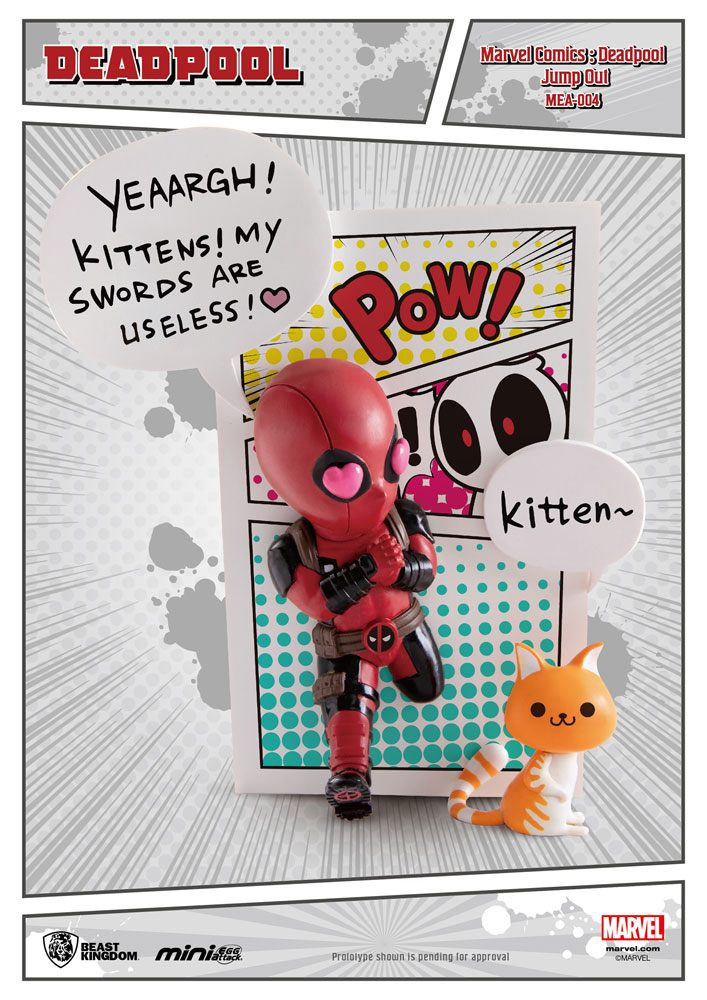 Marvel Comics Mini Egg Attack Figure Deadpool Jump Out 4th Wall 12 cm
