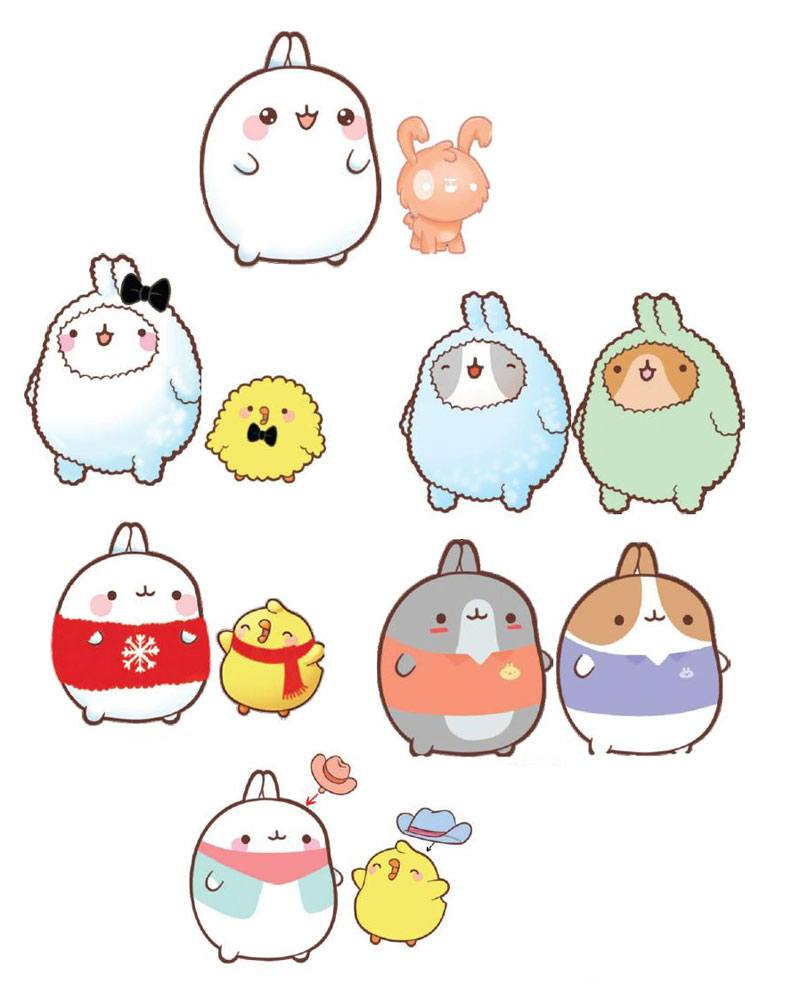Molang Collection Figures 3-8 cm Assortment (12)