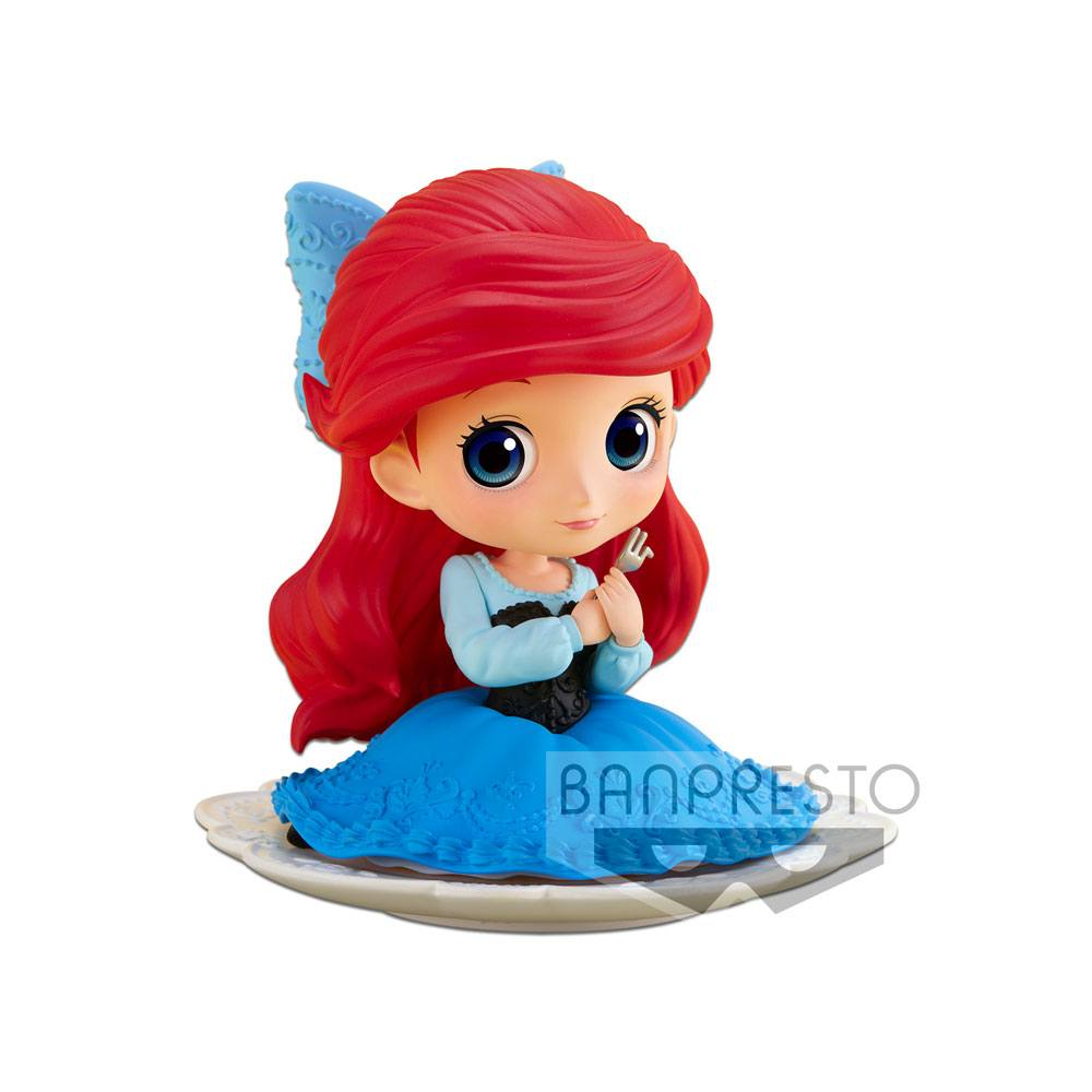Disney Q Posket SUGIRLY Mini Figure Ariel Normal Color Ver. 9 cm