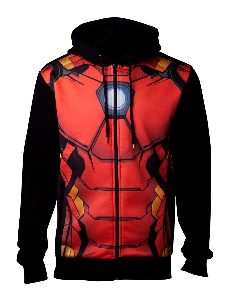 Marvel Hooded Sweater Iron Man Size L
