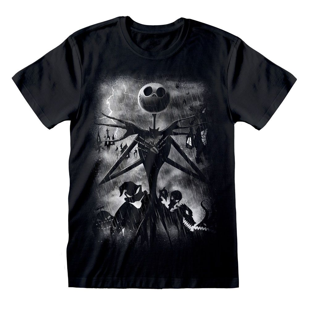 Nightmare before Christmas T-Shirt Stormy Skies Size S