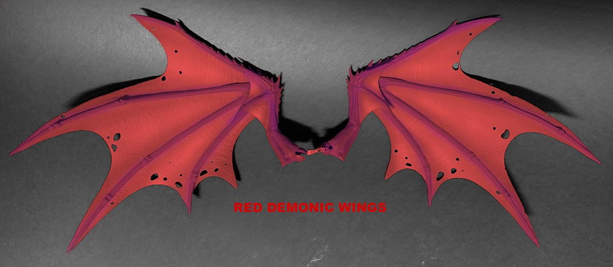 Mythic Legions: Arethyr Action Figure Accessory Red Demonic Wings