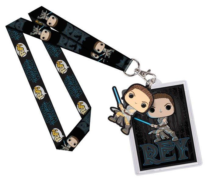 Star Wars POP! Lanyard with Rubber Keychain Rey