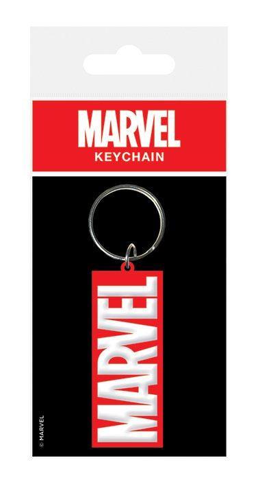 Marvel Comics Rubber Keychain Logo 6 cm