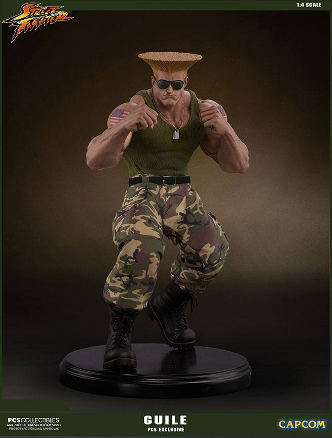 Street Fighter Mixed Media Statue 1/4 Guile PCS Exclusive 44 cm