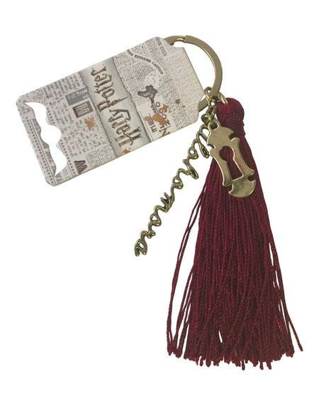 Harry Potter Metal Keychain Alohomora Tassle