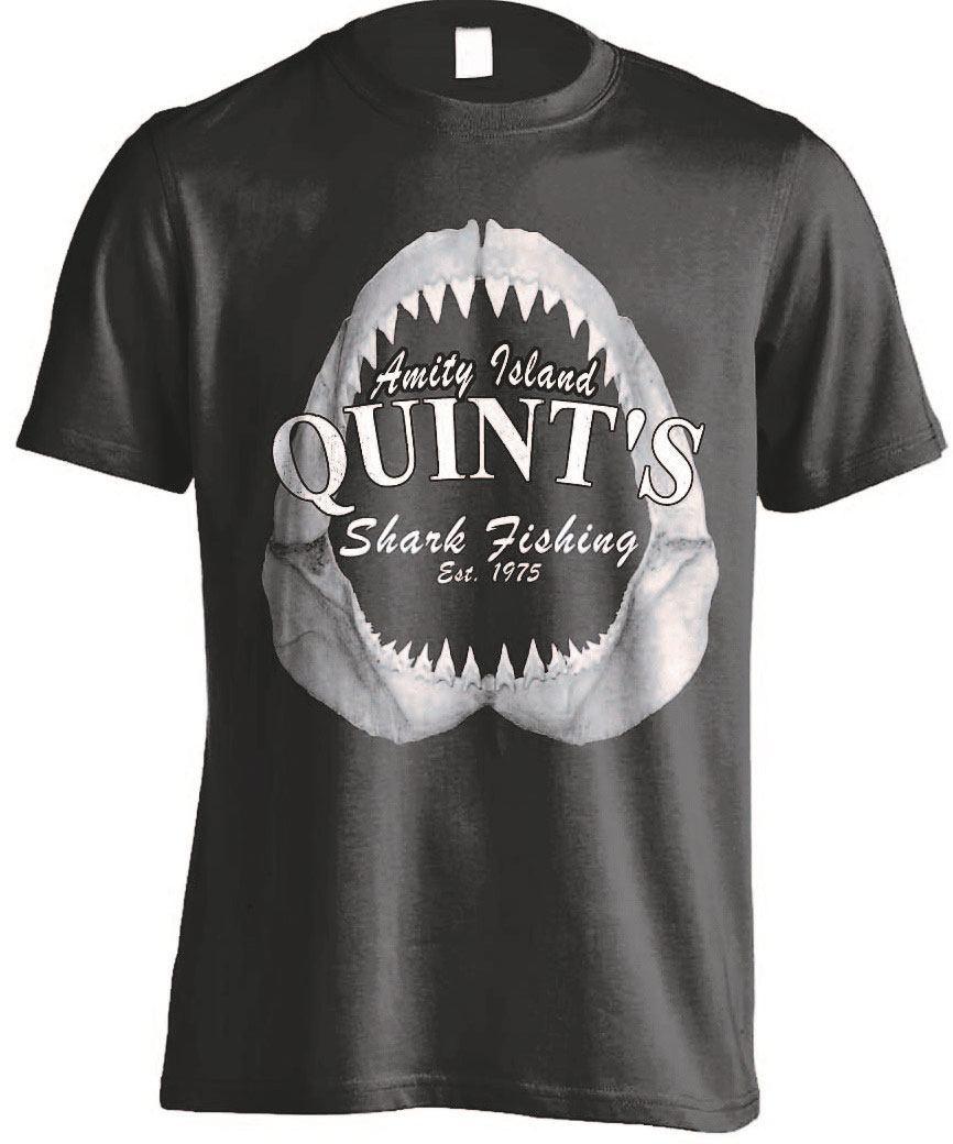 Jaws T-Shirt Quints Shark Fishing Size L