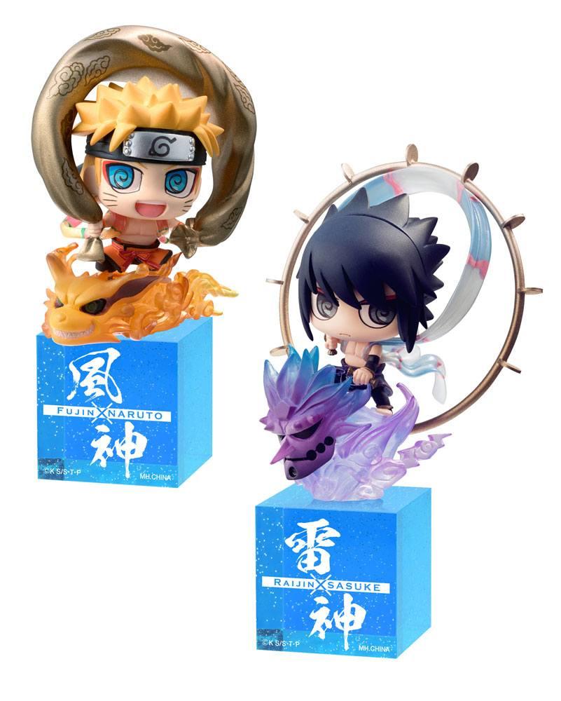 Naruto Shippuden Petit Chara Land Trading Figure 2-Pack Fujin & Raijin 5 cm