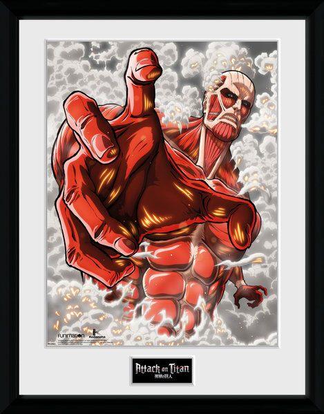 Attack on Titan Season 2 Framed Poster Colossus Titan 45 x 34 cm