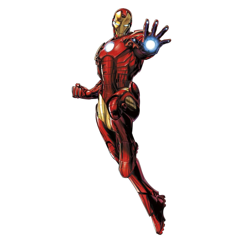 Marvel Comics Giant Vinyl Wall Decal Set Iron Man