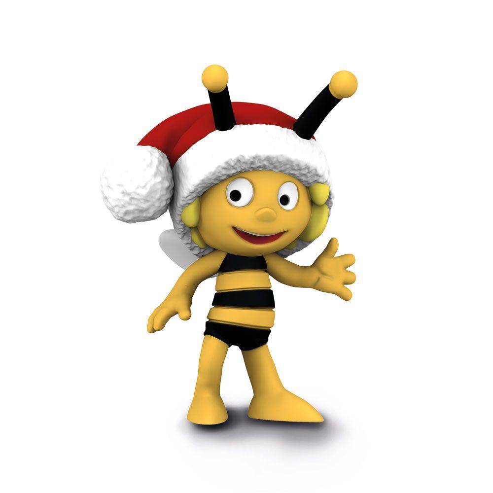 Maya the Bee Figure Maya the Bee with Santa Hat 7 cm