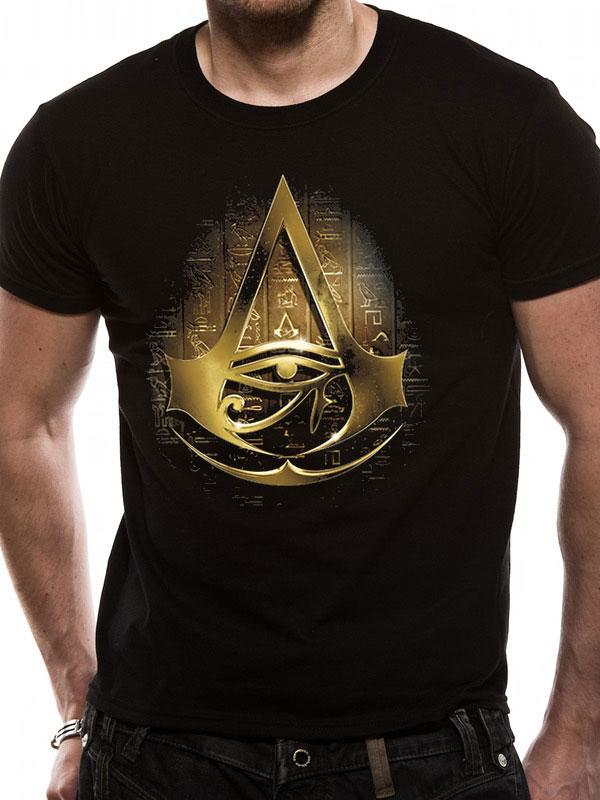 Assassin's Creed Origins T-Shirt Gold Hieroglyphs Size S