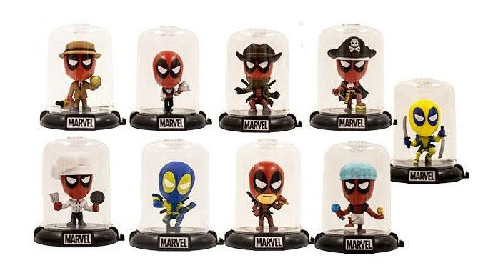 Deadpool Domez Mini Figures 7 cm Series 2 Display (24)