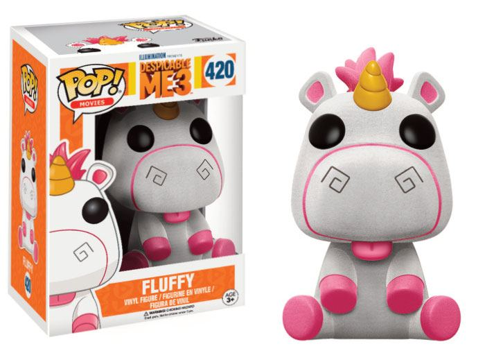 Despicable Me 3 POP! Movies Vinyl Figure Fluffy (Flocked) 9 cm