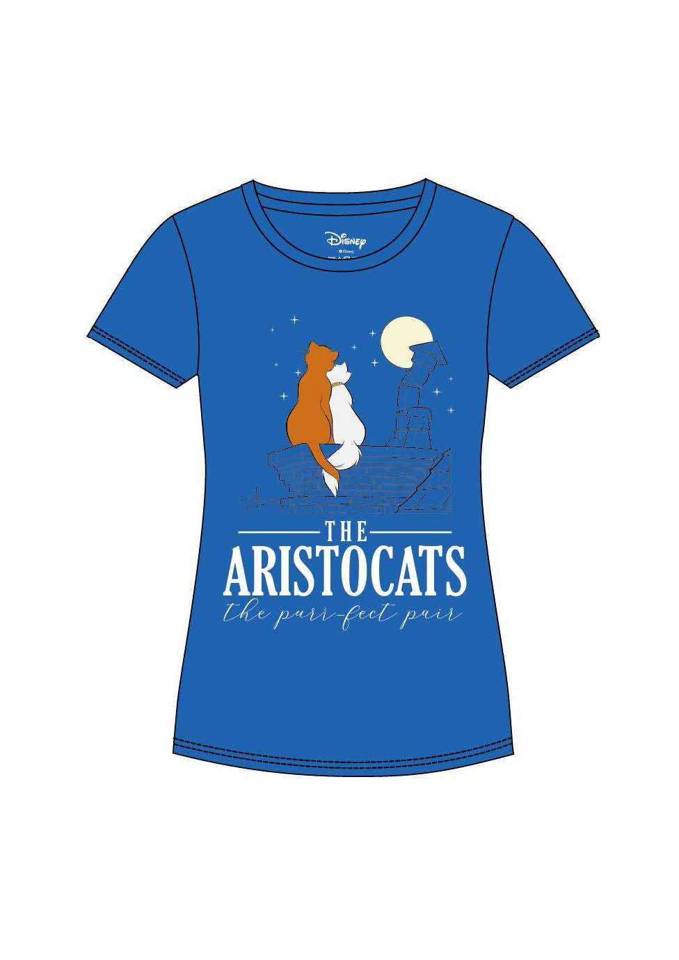 Aristocats Ladies T-Shirt Pair Size M