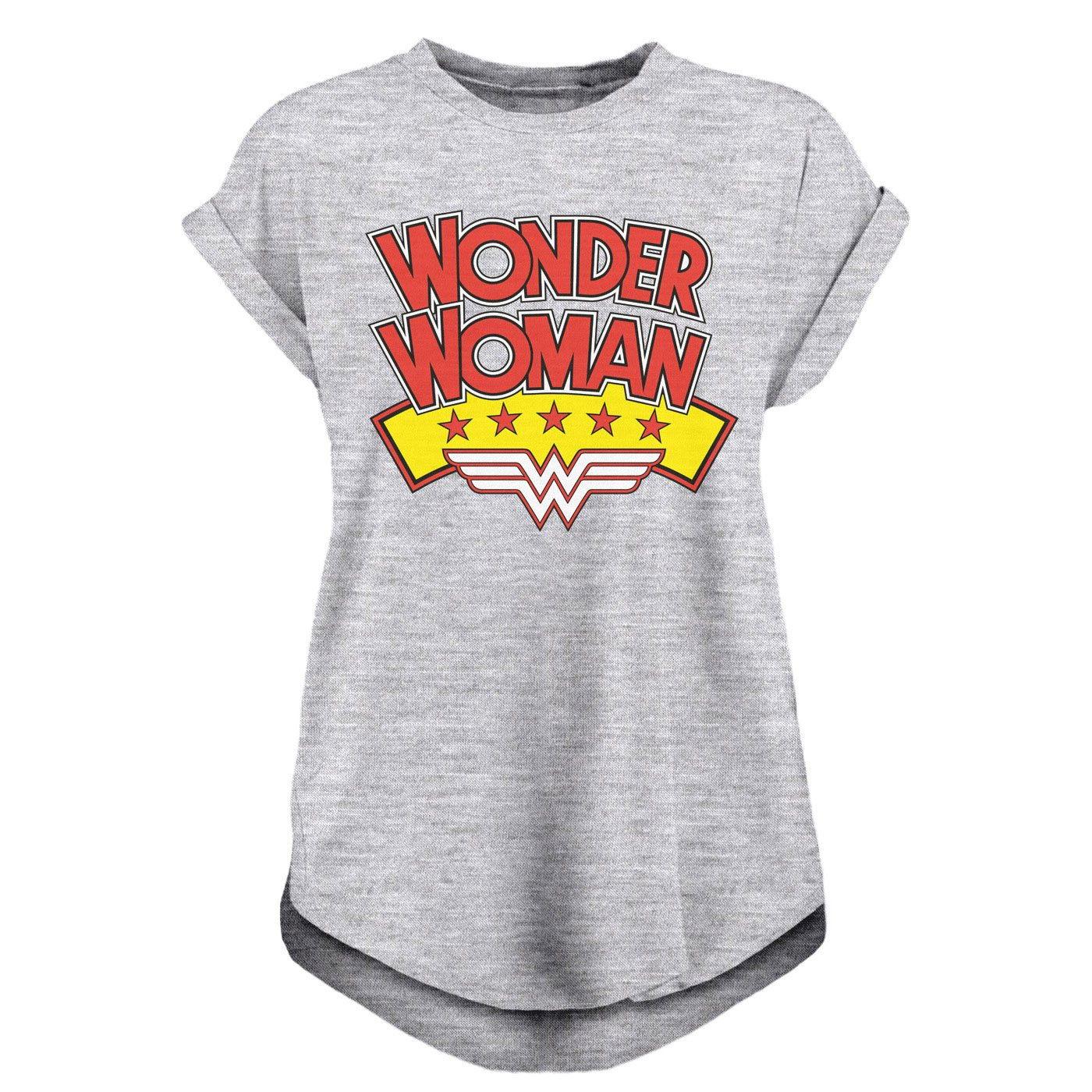 Wonder Woman Ladies T-Shirt Stacked Logo Size XL