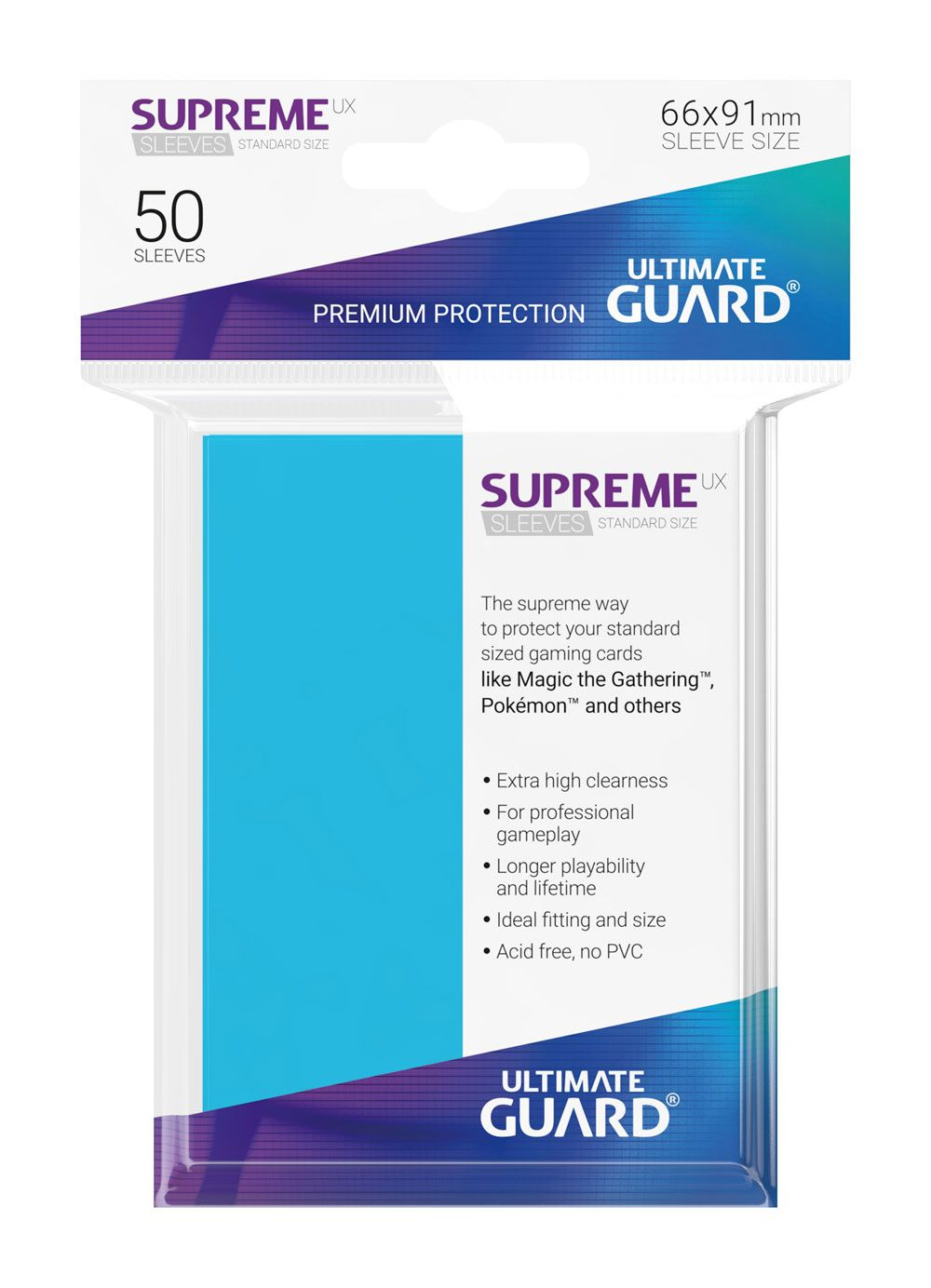 Ultimate Guard Supreme UX Sleeves Standard Size Light Blue (50)