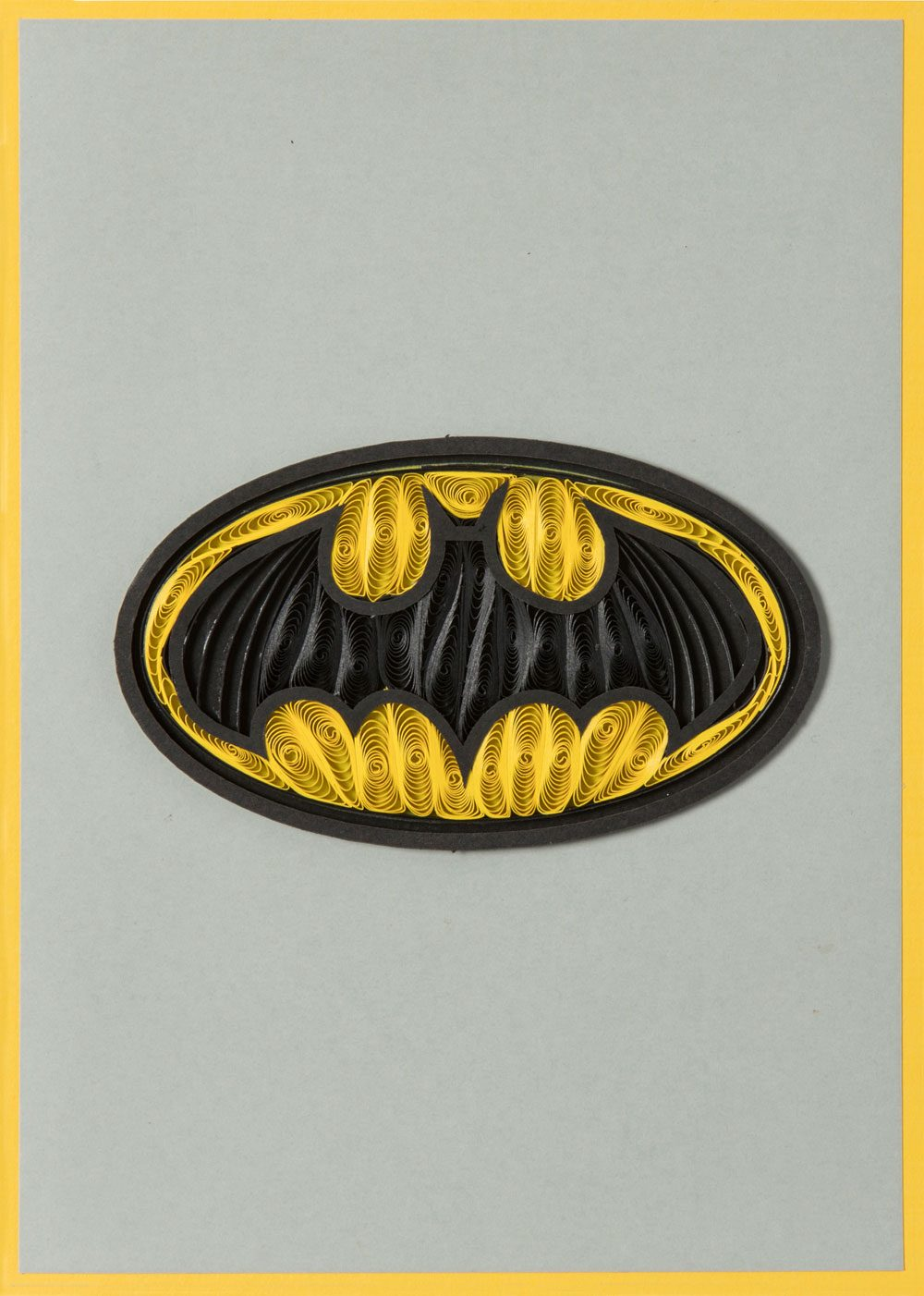 DC Comics Quilled Greeting Card Batman