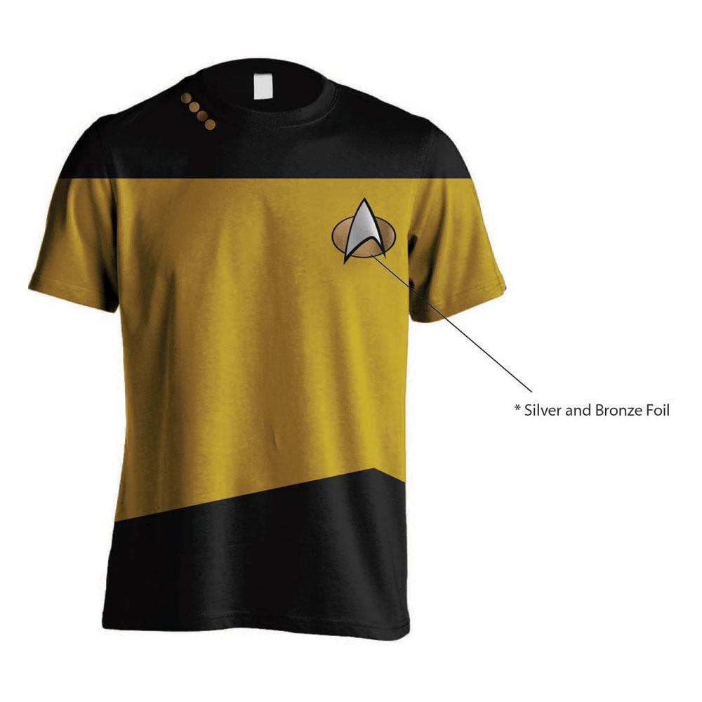 Star Trek T-Shirt Uniform Yellow Size M