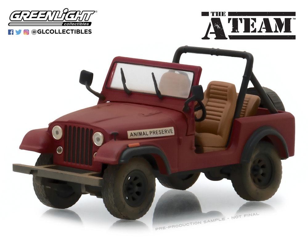 A-Team Hollywood Series 24 Diecast Model 1/64 1983 Jeep CJ-7