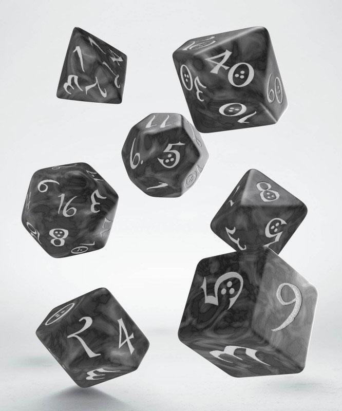 Classic RPG Dice Set smoky & white (7)