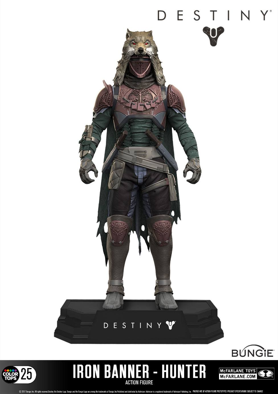 Destiny Color Tops Action Figure Iron Banner Hunter 18 cm