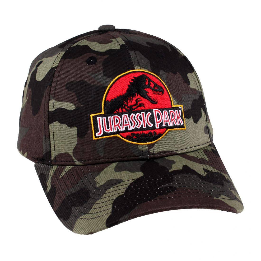 Jurassic Park Baseball Cap Camouflage Logo