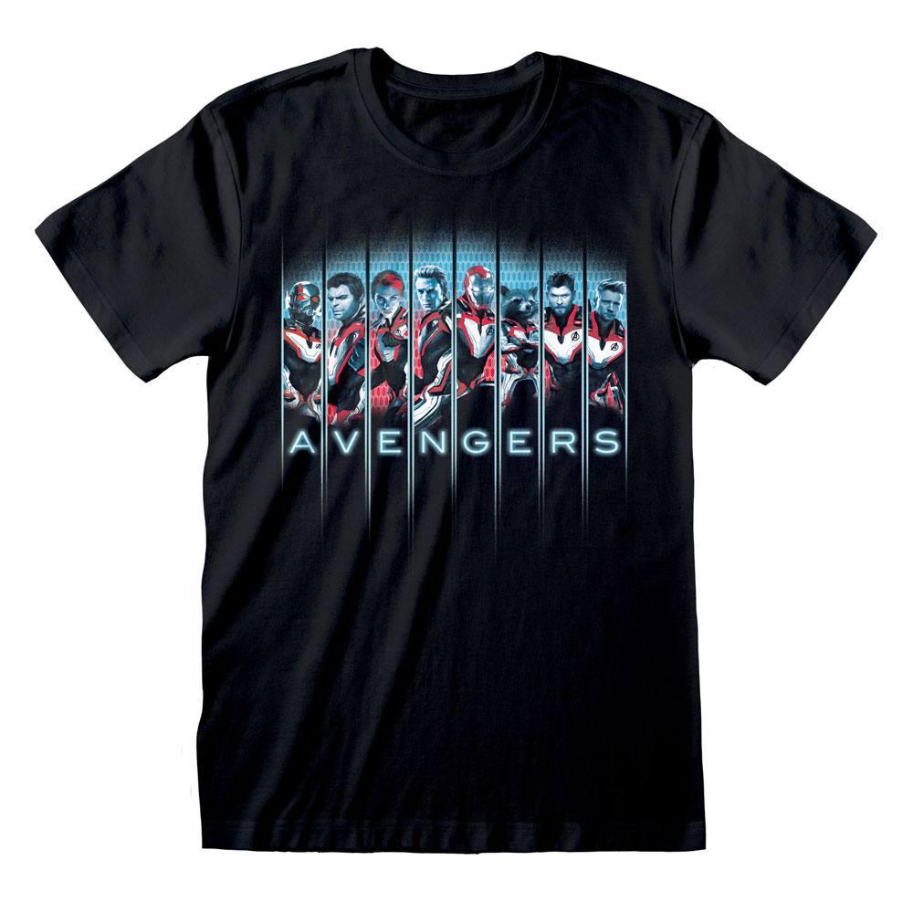 Avengers Endgame T-Shirt Tonal Heads Size L