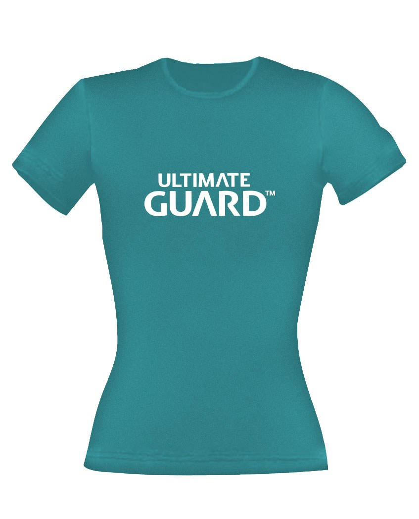 Ultimate Guard Ladies T-Shirt Wordmark Petrol Blue Size XXL