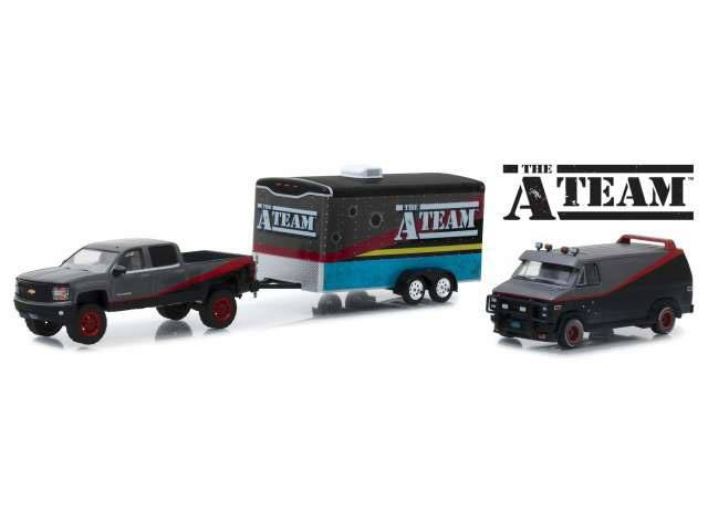 A-Team Diecast Model 1/64 2015 Chevrolet Silverado & GMC Vandura & Hauler