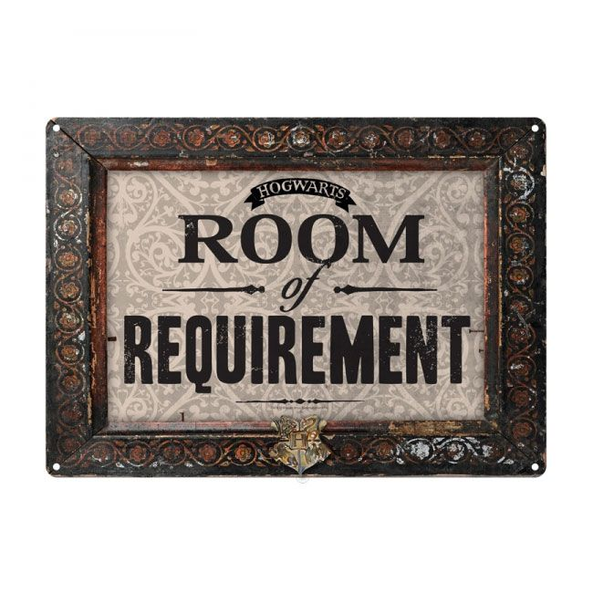 Harry Potter Tin Sign Room of Requirement 21 x 15 cm