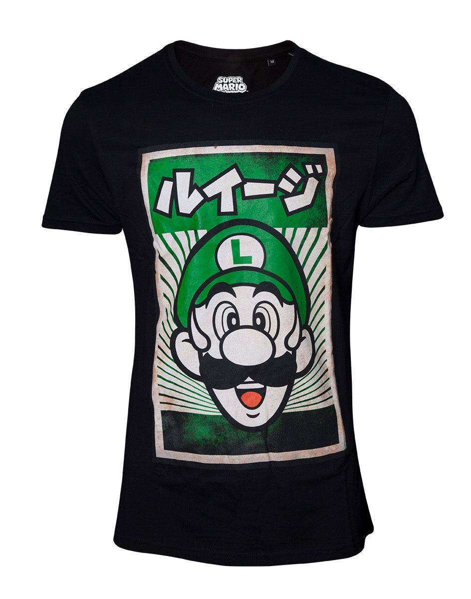 Super Mario T-Shirt Propaganda Poster Inspired Luigi  Size XL