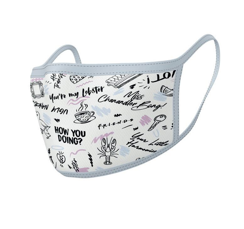 Friends Face Masks 2-Pack Phrases