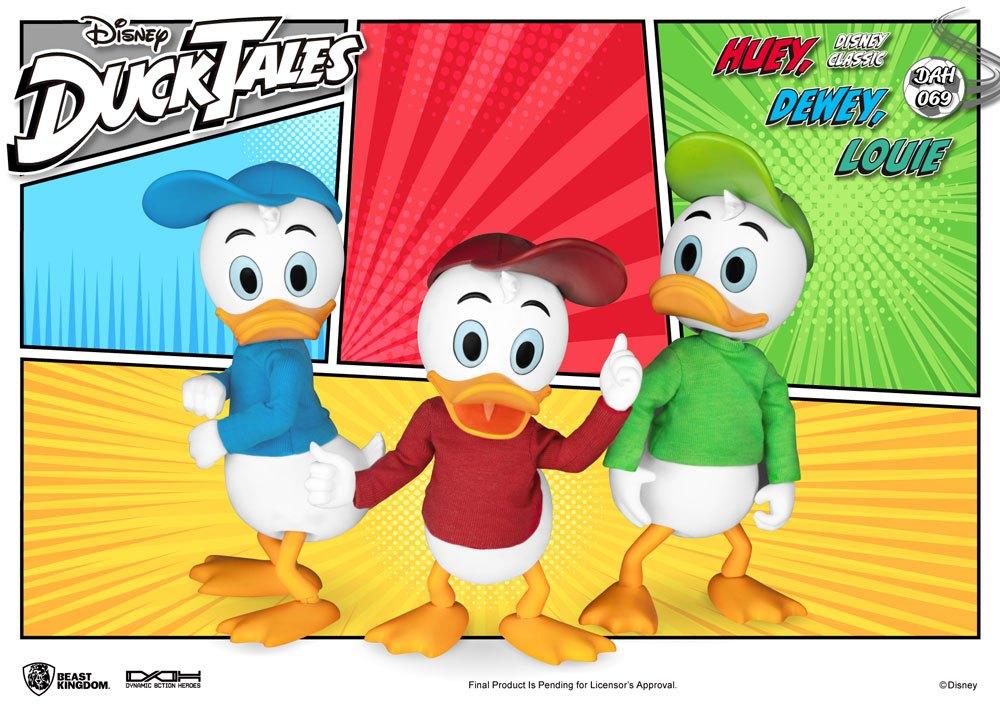 DuckTales Dynamic 8ction Heroes Action Figure 3-Pack Huey, Dewey & Louie 10 cm