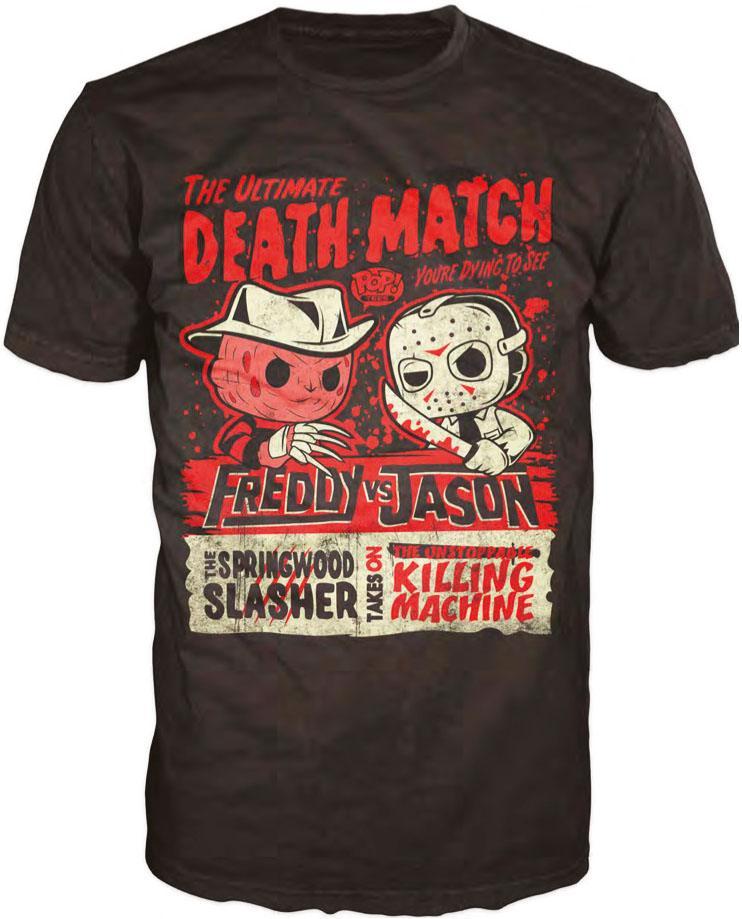 Freddy vs. Jason POP! Tees T-Shirt Death Match Size L