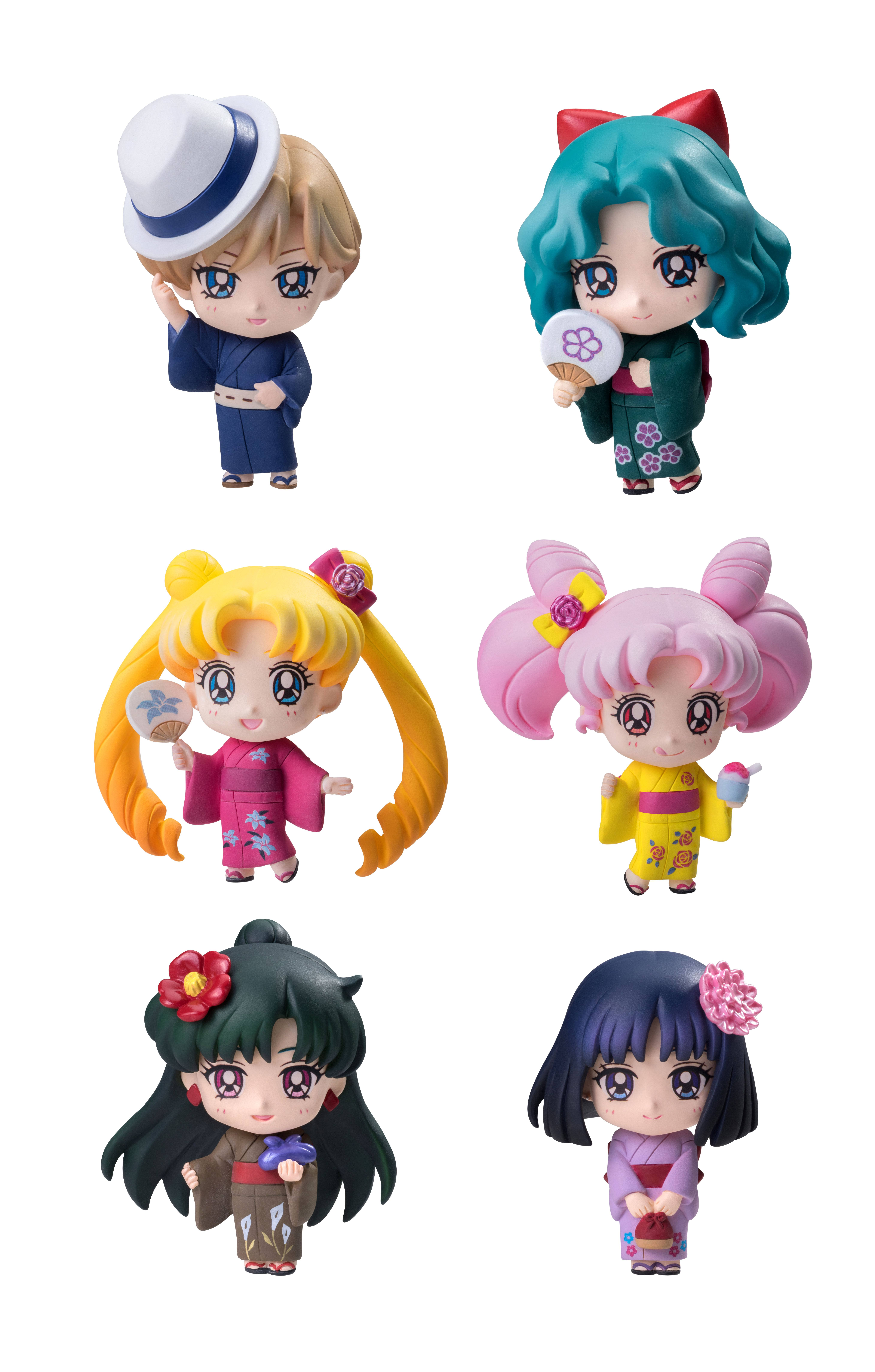 Sailor Moon Petit Chara Trading Figure 6-Pack Soldiers of the Outar Solar System 6 cm